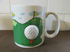 3-D Golf Theme Coffee Mug Cup Russ Berrie Co.