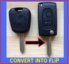 CITROEN SAXO XSARA PICASSO BERLINGO 2 BUTTON FLIP REMOTE KEY FOB CASE CONVERT