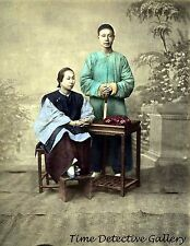 Portrait of a Chinese Couple - 1870s - Historic Photo Print