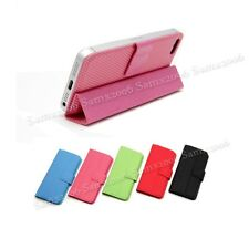 Mini Magnetic Smart Cover Pouch Case for iPhone 5 5S SE - Red - See Demo Video