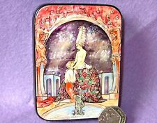 SMALL LACQUER SHELL GIFT Box G.Barbier illustration Fêtes galantes Paul Verlaine