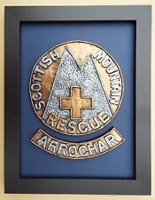 Large Scale Framed SCOTTISH MOUNTAIN RESCUE Badge Plaque