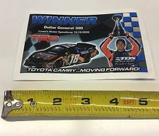 NASCAR KBM Winner Decal #18 Kyle Busch NOS Dollar General 300 Chalotte 2008
