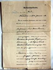 GEBURTSURKUNDE aus Hörnerkirchen 17. Juli 1925