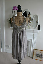 All Saints Spitalfields Embellished PHOEBE Dress Taupe Grey UK 8 RRP 95