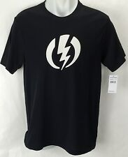 NEW Electric Standard Volt Black Mens Small Snow Skate Cotton Tee Shirt Msrp$22