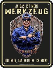 Letrero de metal 17 x 22 cm,Mein Herramienta,Cartel publicitario SIN MARCO Art.