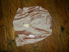 Women's Stubbs Western Wear Equestrian Shirt NWT Size S Apricot Metal Buttons