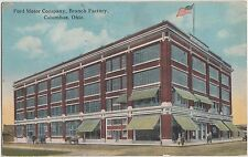 Ohio Postcard COLUMBUS 1922 FORD MOTOR COMPANY BRANCH FACTORY Building Cars