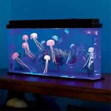 Deluxe LED Light Glowing Jellyfish Aquarium Fish Pets Tank Household Home Decor