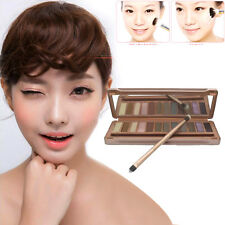 Professional 12 Natural Color Eyeshadow Palette Makeups Tool  With Brush Mirror