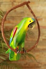 AMAZON PARROT - TROPICAL DECOR- RAIN FOREST- LUAU, TIKI BAR, RIO MOVIE, PIRATE