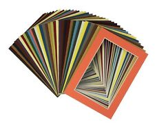 Crescent Pack of 50 sets 5x7 MIXED COLORS CreamCore Mats for 4x6 +Backing +Bags