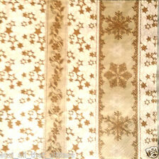 4 x  PAPER NAPKINS GOLDEN STARS for TABLE, DECOUPAGE, SCRAP BOOK & CRAFTING