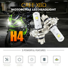 1x H4 20w COB LED Hi/Lo Beam Motorcycle Headlight Front Lamp Bulb Bright 6500K