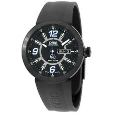Oris Williams F1 Black Dial Silicone Strap Men's Watch 73576514765RS