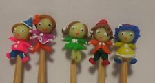 Hand Made 5 Little People On A Stick Dolls House Miniature Nursery