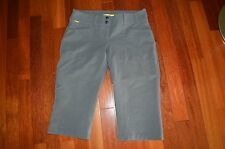 LOLE  WALK NYLON BLEND OVER KNEE CAPRI SHORTS GRAY SLIM FIT SIZE -8 $75