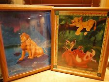 SET OF TWO LION KING FRAMED PRINTS CAN YOU FEEL THE LOVE TONIGHT & HAKUNA MATATA