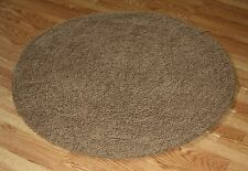 NEW PLUSH Brown Super Soft Cotton Ultimate Shag area Rug 4' Round