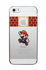 FUNDA CARCASA RIGIDA Mario Bros iPhone 7 normal 4.7 Cartoon transparente 7S NDS