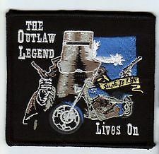 Ned Kelly Outlaw Legend lives on - embroidered cloth patch.   D041101