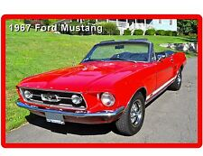 1967 Ford Mustang Convertible Auto Refrigerator / Tool Box  Magnet