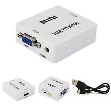 Mini VGA To HDMI HD 1080P HDTV Video Audio Converter Box Adapter For PC Laptop