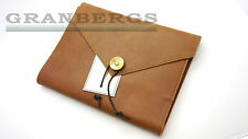 P.A.P Leather Covered Notebook/Writing Journal Tan Great Quality Swedish Made