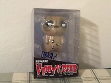 BEWARE THE FLOATY BEAR BY NATHAN CABRERA ROMAN DIRGE VINYL FIGURE SIGNED BOX