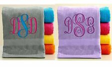 Personalized Towel with FREE Custom Embroidery ~ Initials Theme ~ Custom Towels