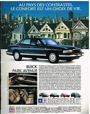 Publicité Advertising 1992 Buick park Avenue