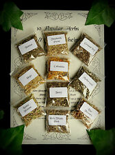 10 HERB Witches Starter Set Spell Ingredients Wicca Pagan Witchcraft