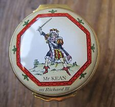 HALCYON DAYS ENAMEL BOX THEATRICAL PRINTS RICHARD III, DON JUAN, RED ROVER