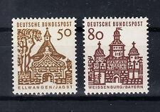 BRD Briefmarken 1964 Bauwerke Mi.Nr.458+61 ** postfrisch