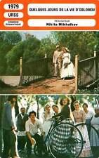 FICHE CINEMA : QUELQUES JOURS DE LA VIE D'OBLOMOV - Tabakov,Mikhalkov 1979