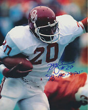 Billy Sims autographed Color 8x10 Oklahoma Sooners OU #2 Free Shipping