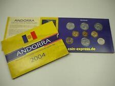 *** ANDORRA KMS 2004 mit Centim Münzen und 2 x 1 Euro Münze Coin Set ***