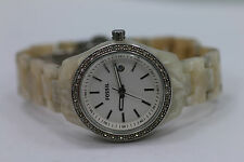 Fossil Stella Glitz Shell Bracelet Crystal Bezel ES2670 Womens Watch New Batt