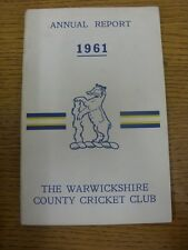 1961 Cricket: Warwickshire County Cricket Club - Official Annual Report & Statem