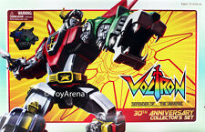 Voltron 30th Anniversary Collector Set Die-Cast Light Up Set w/ Sound and Stand