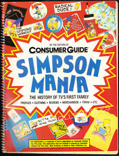 Book~ THE SIMPSONS ~Simpson Mania~History Of TV's First Family ~1990 ~Bart~Homer