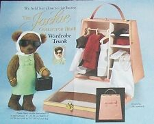 FRANKLIN MINT DOLL JACKIE BEAR + WARDROBE TRUNK + ENSEMBLE NIB