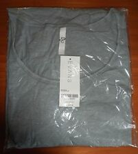LADIES EVANS TOP TSHIRT COTTON GREY 3/4 SLEEVE SIZE 26 28 BNWT