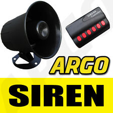12v Mini Six 6 Tone Siren Horn DC Car Van  Boat Vehicle 20W DC Claxon Warning