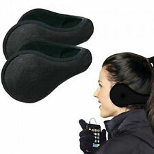 New Ladies Mens Black Earmuffs Winter Fleece Head Band Ear Muff Soft Warmers