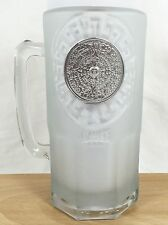 Cozumel Mexico Sundial Tall Frosted Beer Glass Stein 36 oz Mug Anchor Hocking