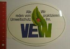 Aufkleber/Sticker: VEW alle reden vom Umweltschutz wir praktizieren (040916105)