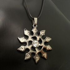 Fashion Personality Stainless Steel Black Sun Pendant necklace LL39