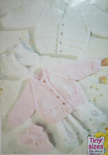Baby's Cardigans and Bootees Knitting Pattern Including Premature Sizes (BB07)